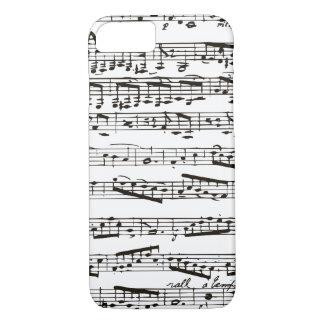 Musikalische Schwarzweiss-Anmerkungen iPhone 8/7 Hülle