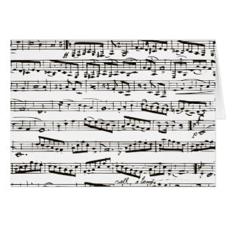 Musikalische Schwarzweiss-Anmerkungen Karte