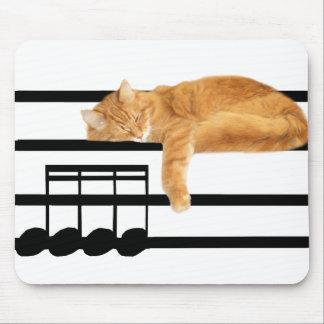 Musikalische Tabby-Miezekatzekatze Mauspad