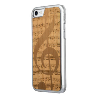 Musikalischer dreifacher carved iPhone 8/7 hülle