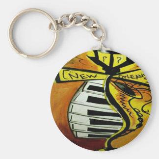Musikalischer Straßenposten New Orleans Schlüsselanhänger