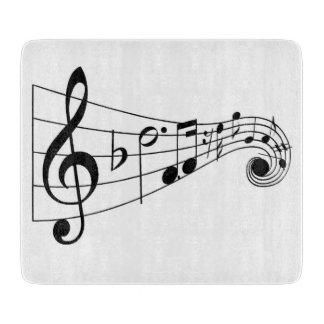Musikalisches Glasschneiden-Brett Schneidebrett