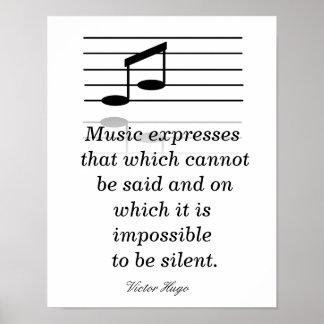 Musikanerkennung - Kunstdruck Poster