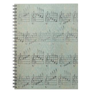 Musikanmerkung Muster-Musik-Thema-Notizbuch Notizblock