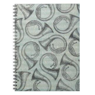 Musikanmerkung Muster-Musik-Thema-Notizbuch Notizbuch