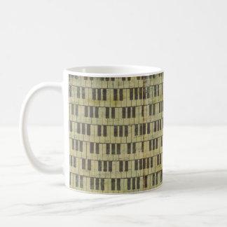 Musikanmerkung Muster-Musikklavier Thema-Tasse Tasse