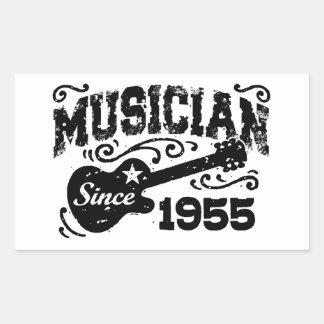 Musiker seit 1955 rechteckiger aufkleber