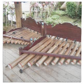 Musikinstrumente Balis Stoffserviette