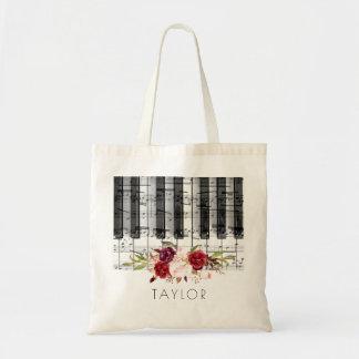 Musikklavier marsala Blumenname Tragetasche