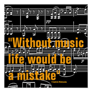 Musikzitat Poster