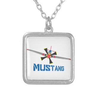 Mustang-Kämpfer Versilberte Kette