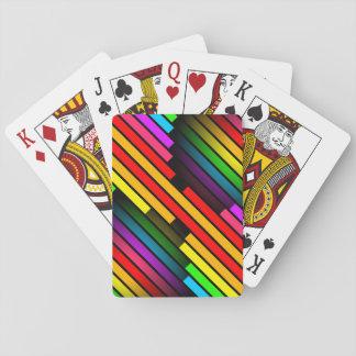 Muster das 3D der hellen bunten Stripy jugendlich Spielkarten