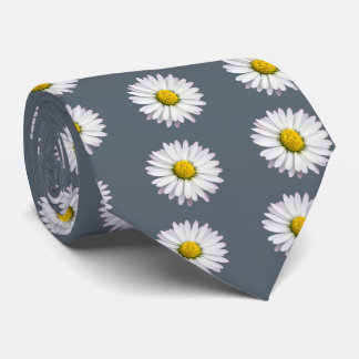 Muster der gelben und weißen Gänseblümchen Personalisierte Krawatte