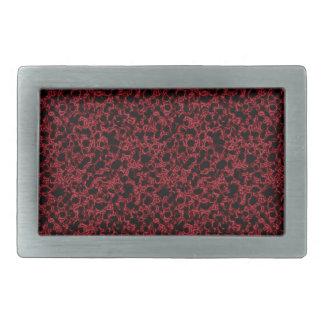 Muster der roten Koralle Rechteckige Gürtelschnallen