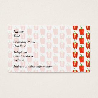 Muster der roten Pfeffer Visitenkarte
