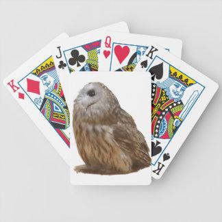 Muster der Tawny Eule Pokerkarten