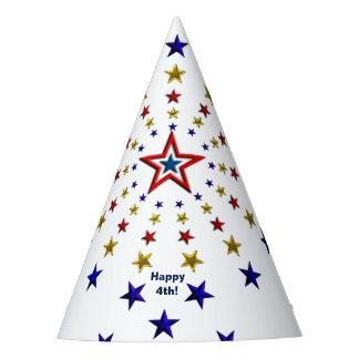 Muster des patriotischen Stern-Party-Hutes Partyhütchen