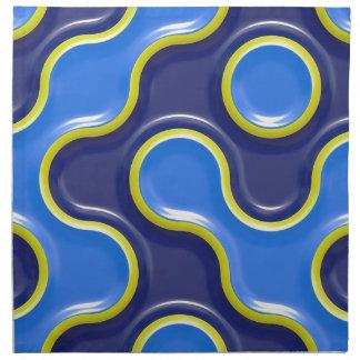 Muster-Kurven-Entwurfs-nahtloser Serviette