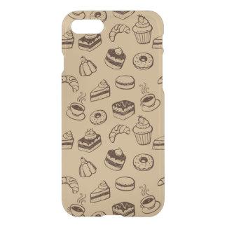 Muster mit Kuchen, Nachtischen und Bäckerei iPhone 8/7 Hülle