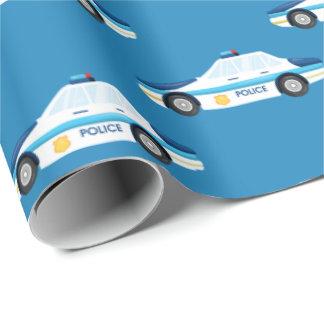 Muster-Partyverpackung des Spaßpolizeiautos mit Einpackpapier