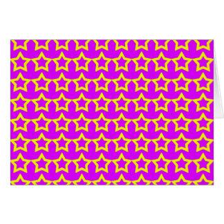 Muster: Rosa Hintergrund mit gelben Sternen Grußkarte