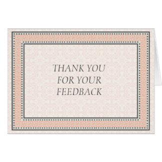 Muster u. Grenzen 1 danken Ihnen für Ihr Feed-back Karte