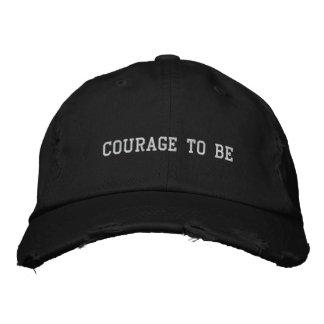 Mut gestickter Hut zu sein Bestickte Caps