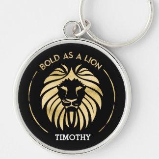 Mutig als Löwe Keychain Schlüsselanhänger