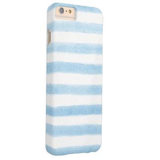 Mutige gemalte blaue Streifen Barely There iPhone 6 Plus Hülle