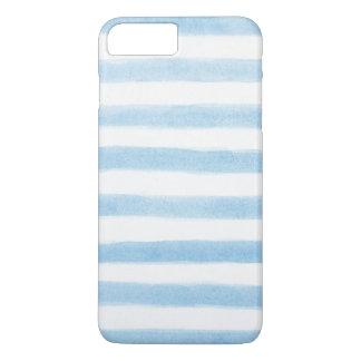 Mutige gemalte blaue Streifen iPhone 8 Plus/7 Plus Hülle