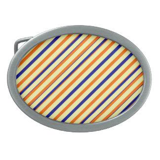 Mutige orange blauer Streifen-Oval-Schnalle Ovale Gürtelschnallen