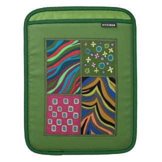 Mutige tropische grüne Tapisserie iPad Sleeve Für iPads