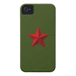 Mutiger Kasten des roten Stern-BlackBerry iPhone 4 Etuis