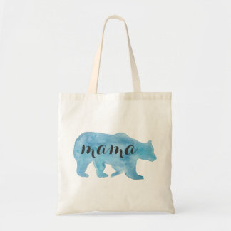 Mutter Bear Watercolor Tote Bag Budget Stoffbeutel
