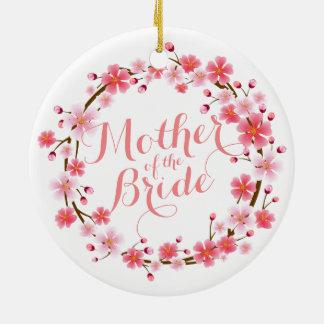Mutter der Braut-Kirschblüte Wedding Ornamen Keramik Ornament