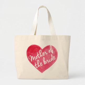 Mutter der Braut-Liebe-Tasche Jumbo Stoffbeutel