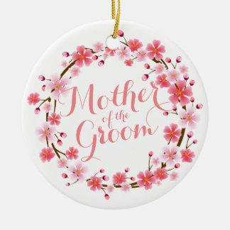 Mutter der Bräutigam-Kirschblüte Wedding Ornamen Keramik Ornament