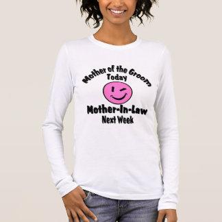 Mutter des Bräutigams Langärmeliges T-Shirt