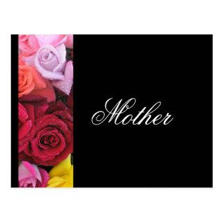 Mutter-elegante Rosen, die Postkarten-Schwarzes Postkarte