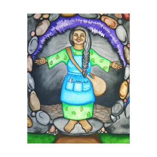 Mutter Erde begrüßt Sie durch Rita Loyd Galerie Faltleinwand
