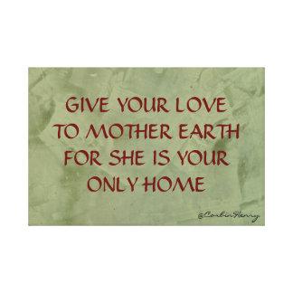 Mutter Erde Leinwanddrucke