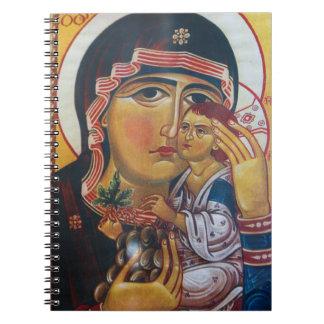 Mutter Mary und Jesus-Kunst Notizblock