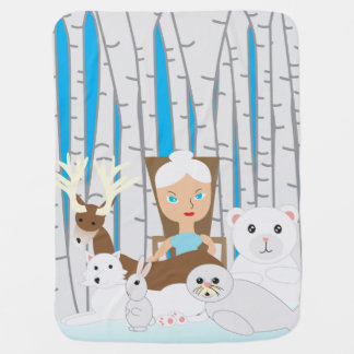 Mutter Natur-Winter-Szene Baby-Decke