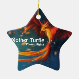 Mutter-Schildkröte-Produkte Keramik Stern-Ornament
