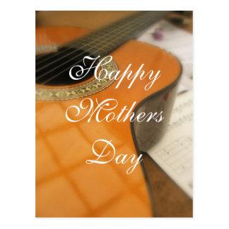 Mutter-Tagesgitarrengruß Postkarte