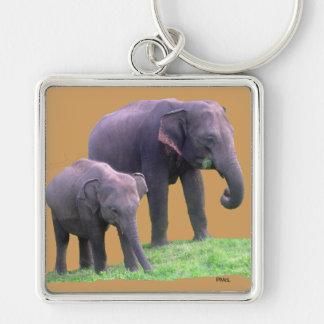Mutter-und Baby-Elefant, erstklassiges Schlüsselanhänger