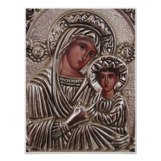 Mutter-und Kinderikone, Madonna und Jesus im Poster