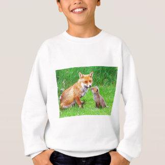 Mutterfuchs und -junges sweatshirt