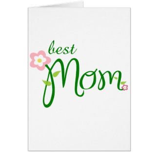 Muttertag - best mom grußkarte