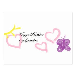 Muttertag für Großmutter Postkarte